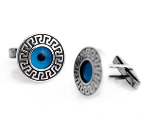 Greek Evil Eye Cufflinks