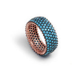 Nano Turquoise Silver Wedding Ring