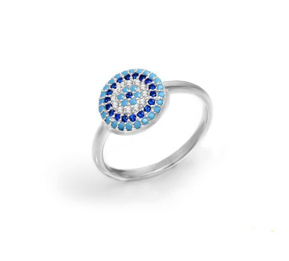The Nano Evil Eye Ring