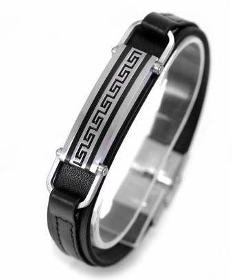 Men's Greek Key Bar Bracelet