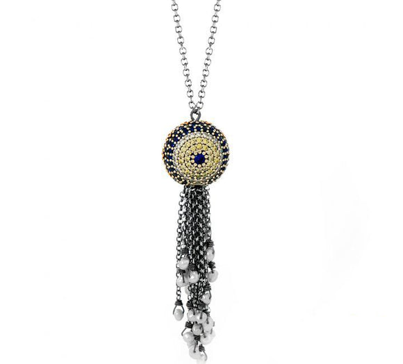 Designer Tassel Evil Eye Necklace