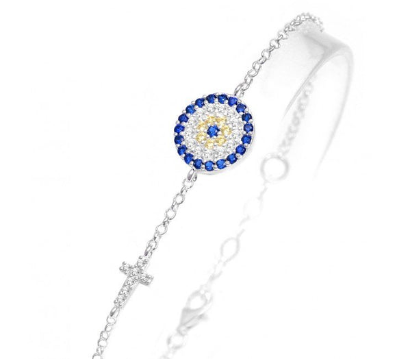 Celebrity Evil Eye Cross Bracelet