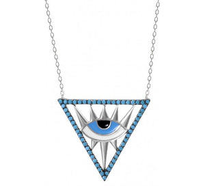 GorgeousThird Eye Celebrity Evil Eye Protection Necklace