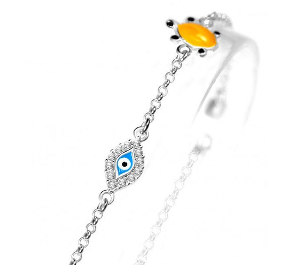 Kids Turtle Children Evil Eye Bracelet