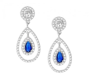 Celebrity Inspired Sapphire CZ Earrings