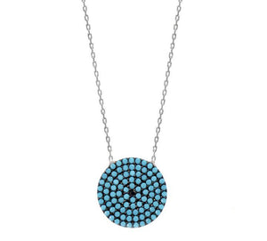 Nano Turquoise Disc Necklace