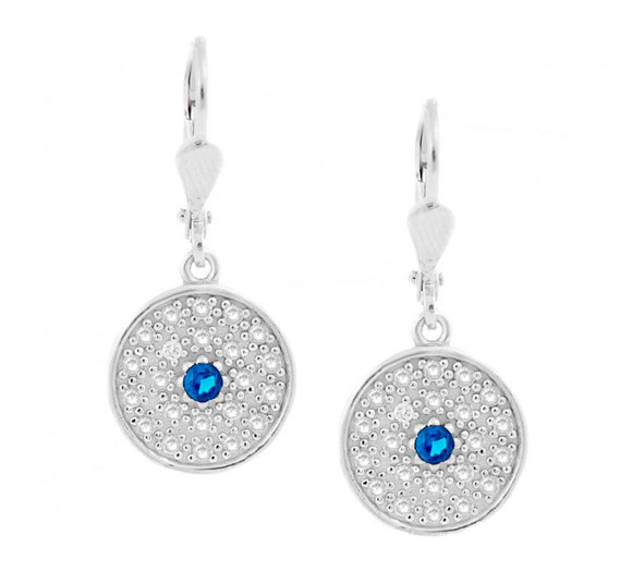 Designer Princess Evil Eye Earrings