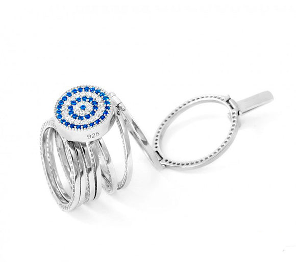 Magic Ring Cycle Evil Eye Bracelet and Ring