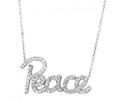 Celebrity Inspired Peace Necklace