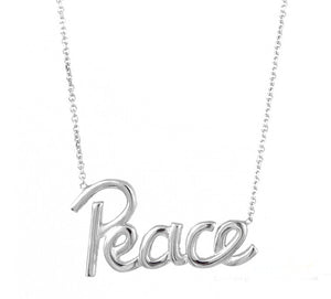 Trendy Silver Peace Necklace