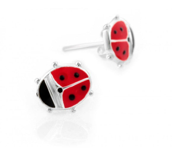 Earrings for Kids with Lucky Ladybird