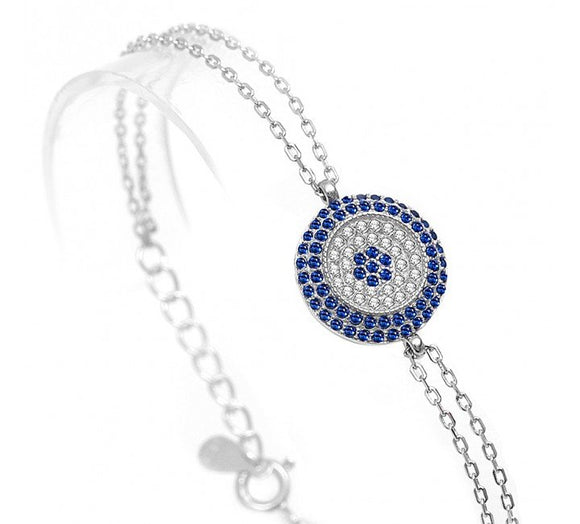 Nazar Evil Eye Bracelet with Cz Stones