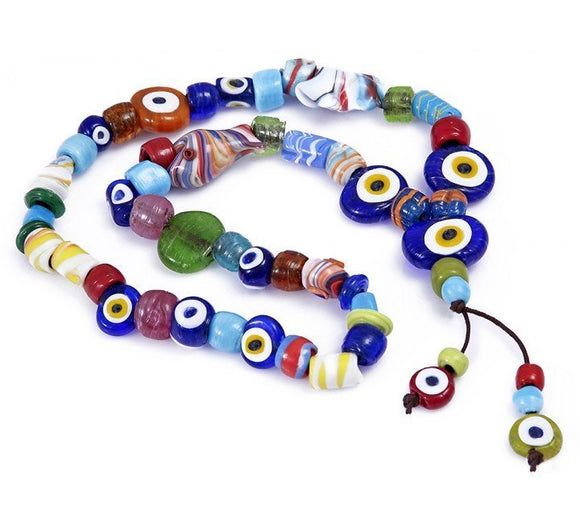 Evil Eye Rosary Beads Wall Decor