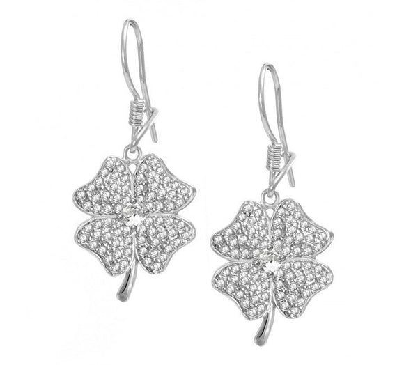 Four Leaf Clover Good Luck Earrings