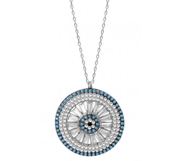 Luxury Evil Eye Medallion Necklace