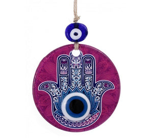 Hamsa Wall Art Fused Glass
