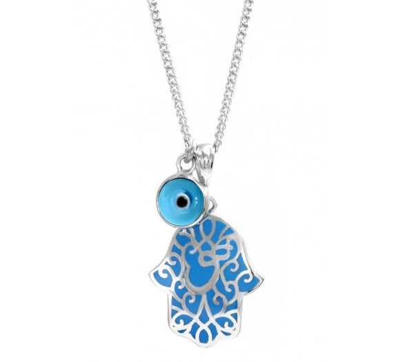 Hamsa Necklace with Lucky Eye