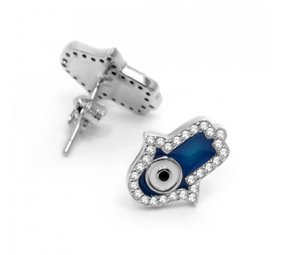 Hamsa Hand Evil Eye Earrings