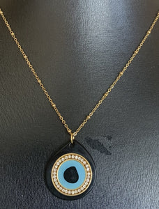 Artisan Jewellery - Evil Eye on chain