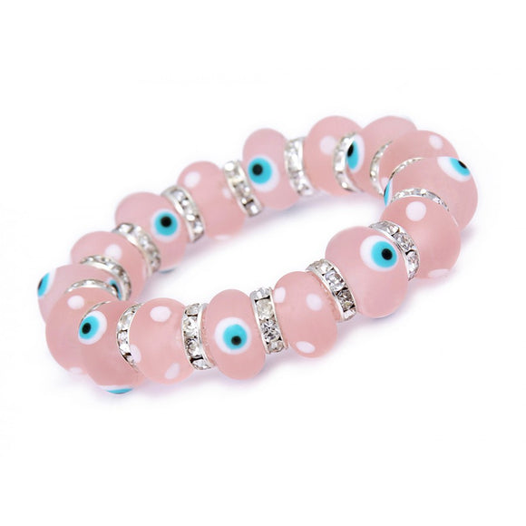 Glass Evil Eye Bracelet with Greek Evil Eyes