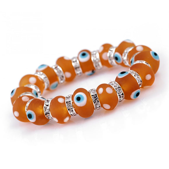 Evil Eye Glass Bracelet