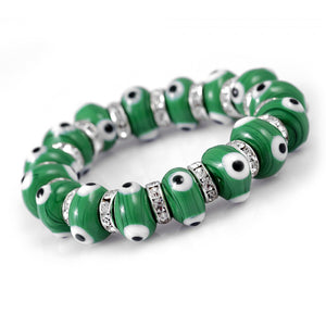 Glass Evil Eye Bracelet