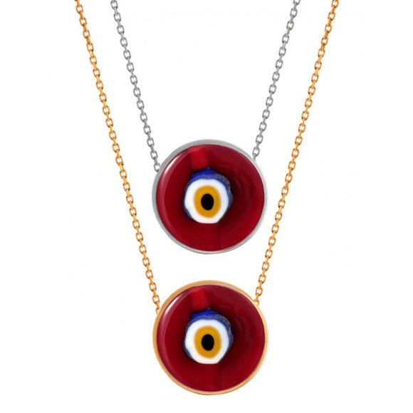 Evil Eye Designer Red Murano Necklace