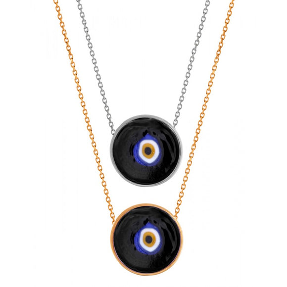 Black Turkish Lucky Eye Necklace