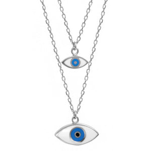 Layered Evil Eye Necklace