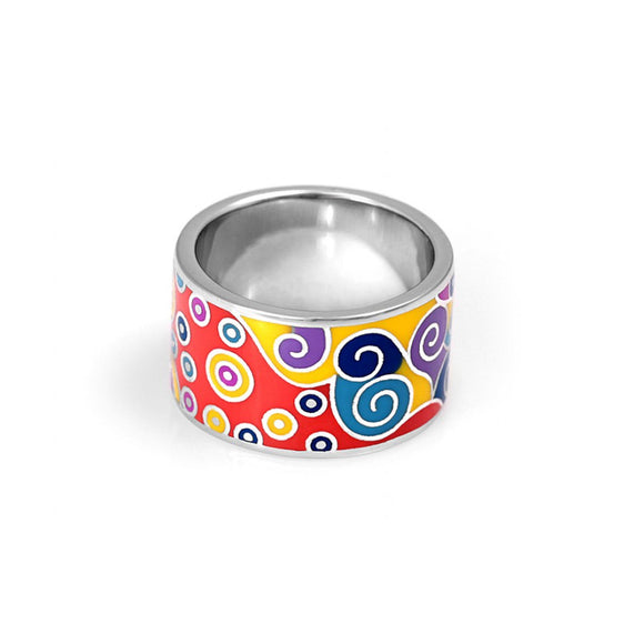Evil Eye Midi Ring with Colorful Evil Eyes