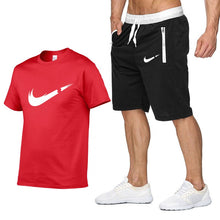 Load image into Gallery viewer, 2019 new T Shirt+Shorts Sets Men Letter Printed Summer Suits Casual Tshirt Men Tracksuits Brand Clothing Tops Tees Set Male