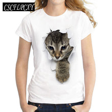 Load image into Gallery viewer, T shirt top round neck short sleeve lashes lips printed tees t-shirt punk