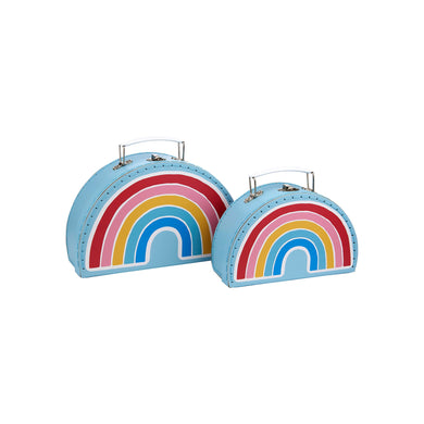 Set 2 scatole valigia rainbow