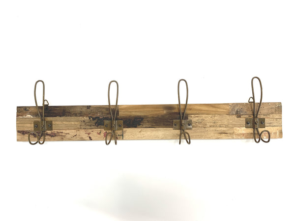 Wall Hook Rack - Rust 4 Hook