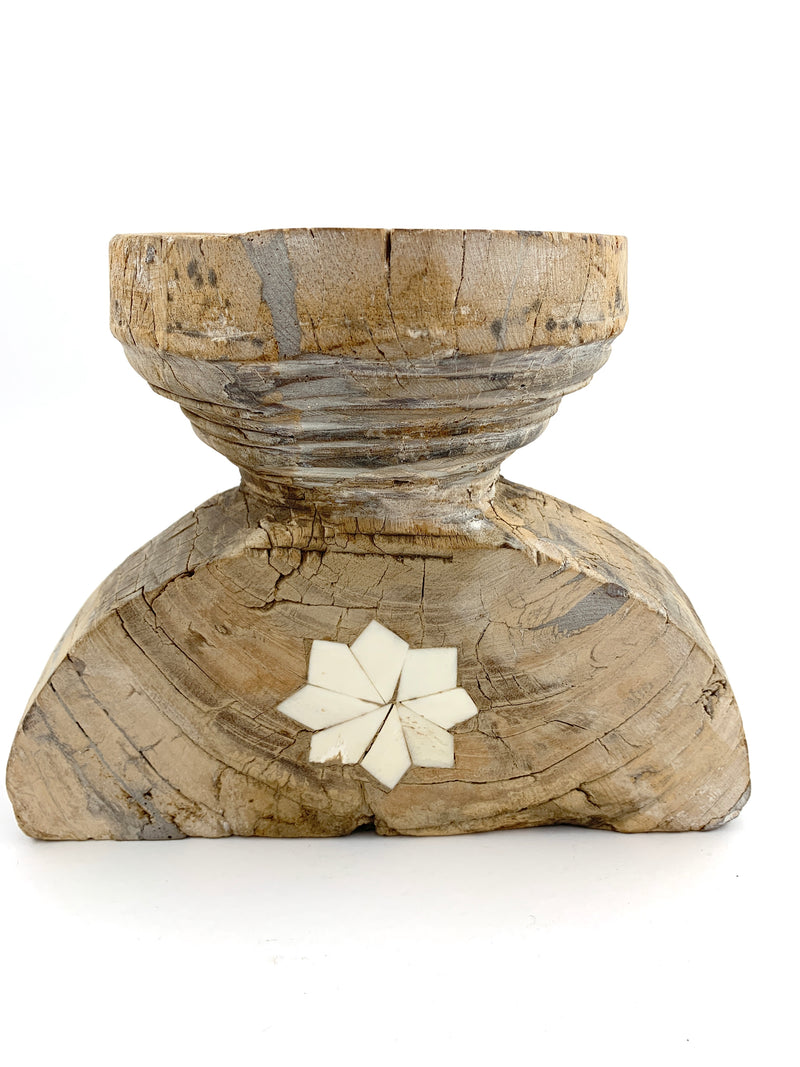 Bone Inlay Seeder Candle Holder