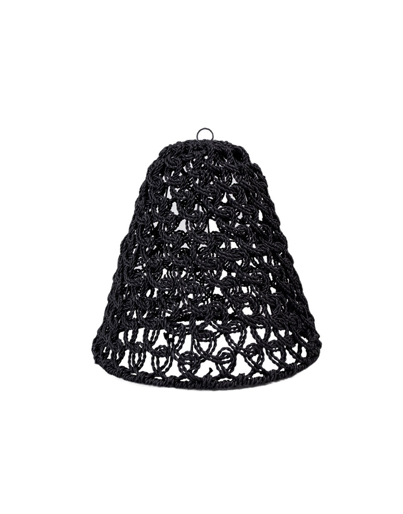 Cocoon Hanging Light Small - Black Swirl