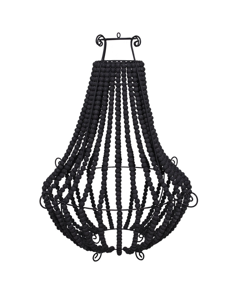 Audrey Beaded Chandelier - Black