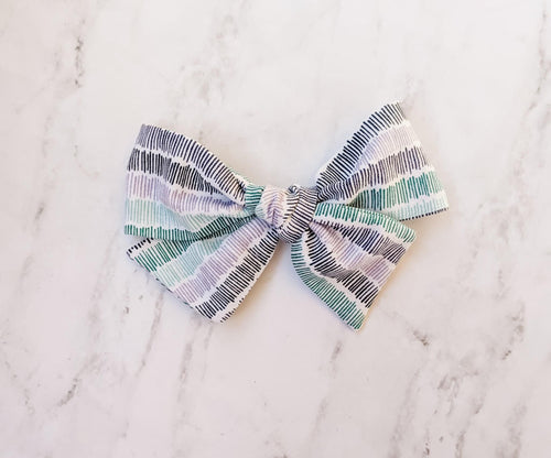 Black purple and teal sailor bow