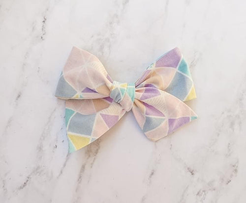 Pastel abstract sailor bow