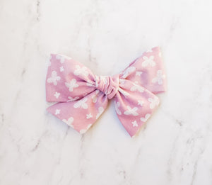 Pink butterflies  sailor bow