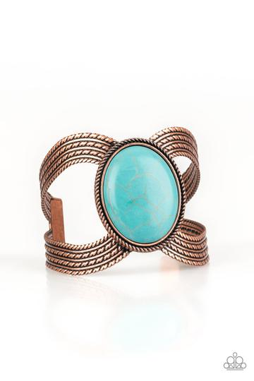 Coyote Couture - Copper - Turquoise Stone - Cuff - Shon's Jewels Boutique