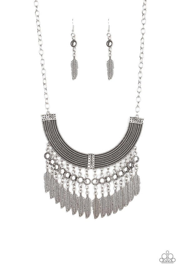 Fierce in Feathers Silver - Shon's Jewels Boutique