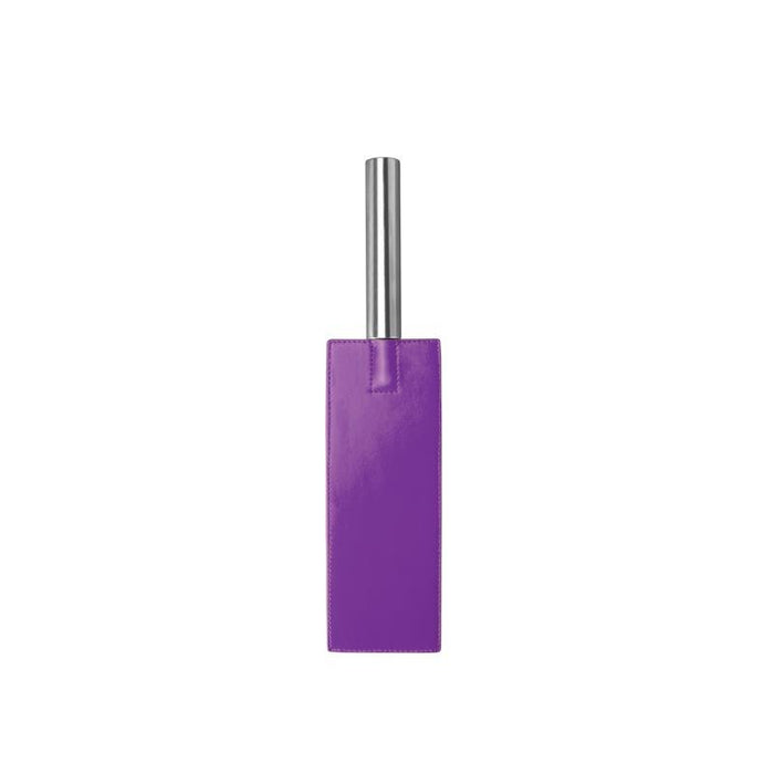 Shots Ouch! Whips and Paddles Leather Paddle Purple