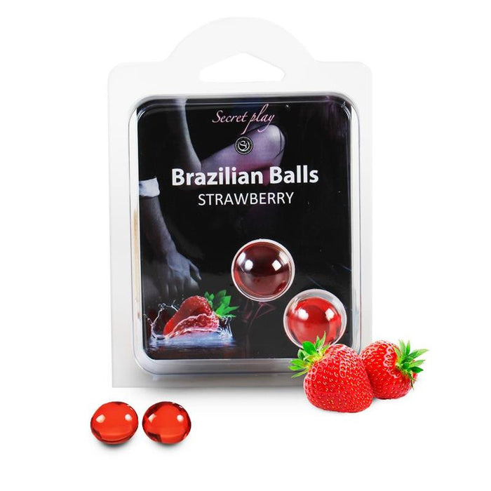 Secret Play Set 2 Brazilian Balls Strawberry Aroma
