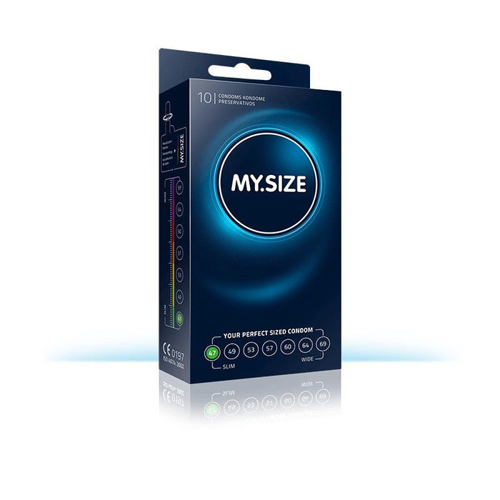 My Size Natural Latex Condom Size 47 Box of 10 Units