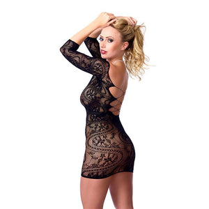 Rimba Amorable Mini Dress Semitransparent Black One Size