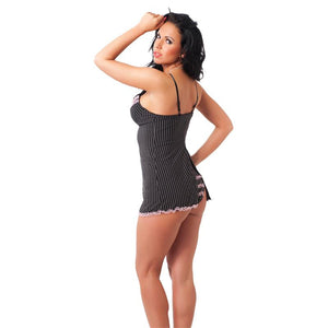 Rimba Amorable Mini Dress and Briefs Black One Size