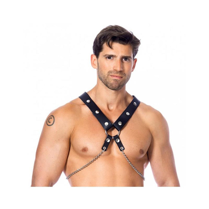 Leather Harness with Chains