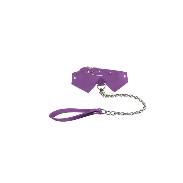 Shots Ouch! Exclusive Collar & Leash Purple