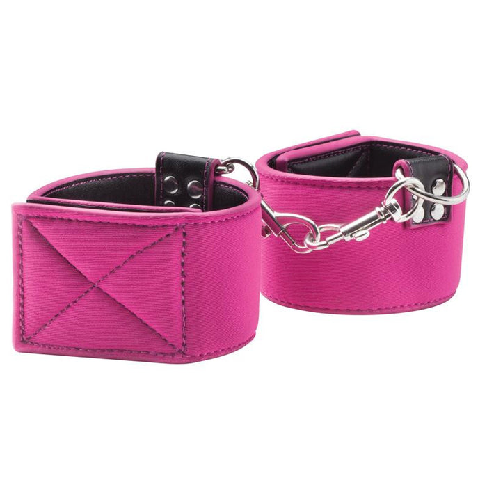 Shots Ouch! Reversible Wrist Cuffs Pink